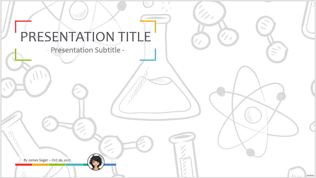 Free Chemistry PPT #61462 SageFox PowerPoint Templates