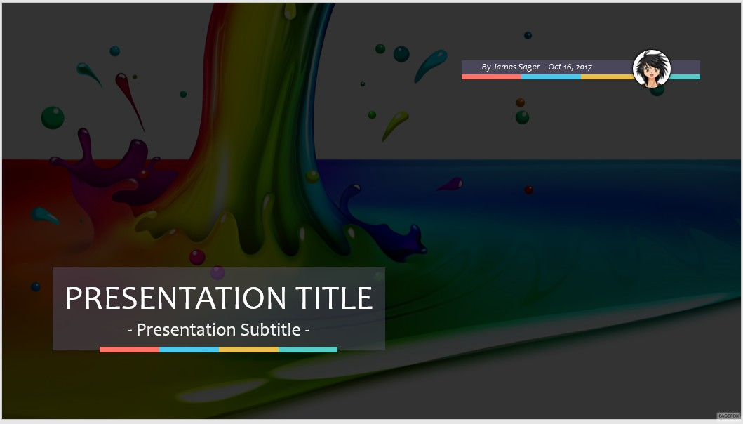Free End of the rainbow PPT #67519 SageFox Free PowerPoint Templates - rainbow powerpoint