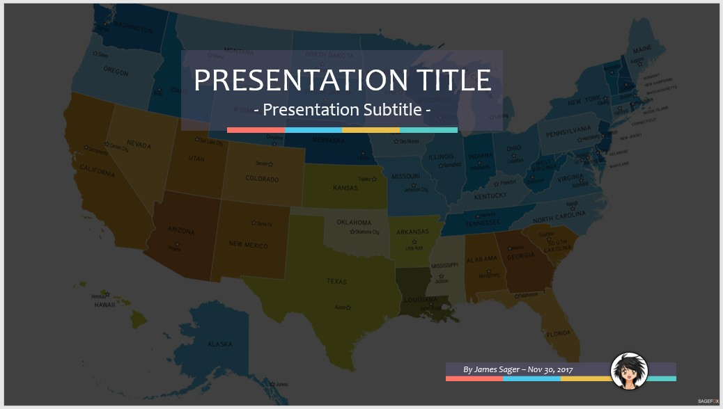 Us map ppt template free