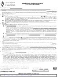 Commercial Lease Agreement Form - California Association of Realtors Download Printable PDF ...