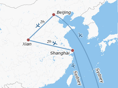 China Tours from Sydney Australia, All-inclusive Packages for 9 Days
