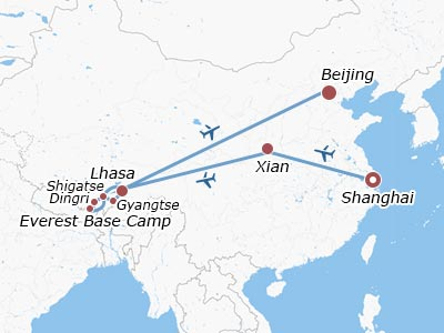 2 Weeks China Tour with Tibet from Shanghai, Xian & Beijing
