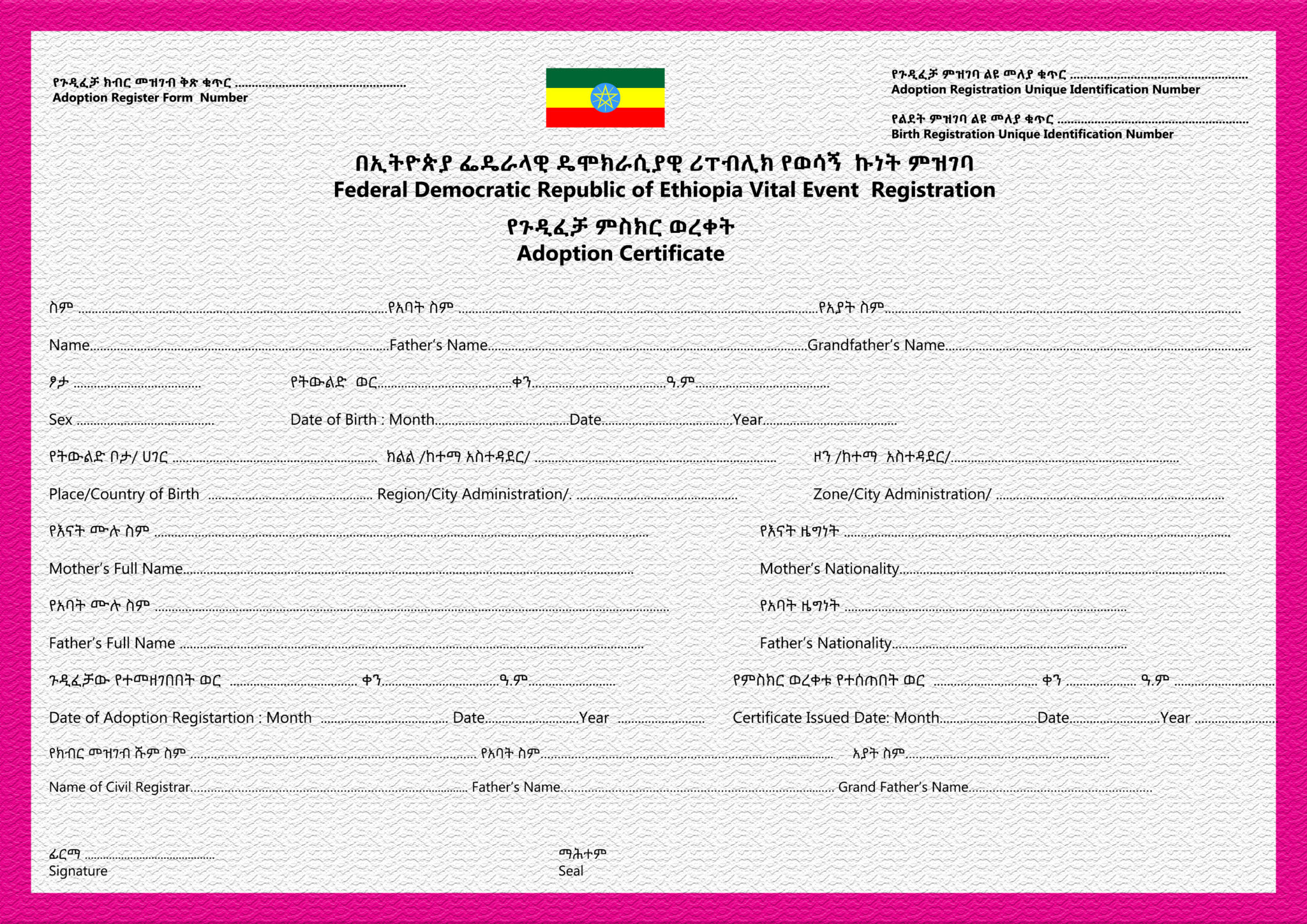 South African Birth Certificate Template Costumepartyrun