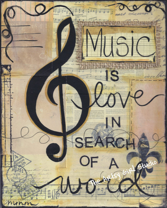 Music is love, in search of a word - Art Print - Available in three s\u2026