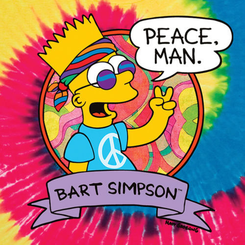 Trippy Animated Wallpapers Bart Simpson Peace Man Thing Hippi Crazy Hip Hop Funny
