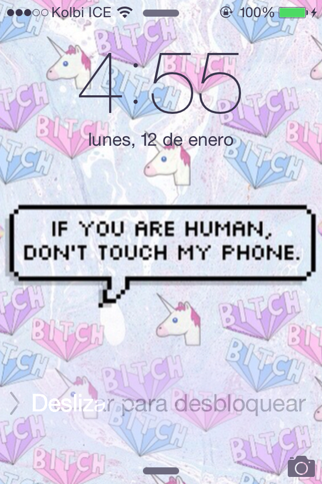Cute Unicorn Marble Wallpaper For Laptop You Are Human Don T Touch My Phone We Heart It