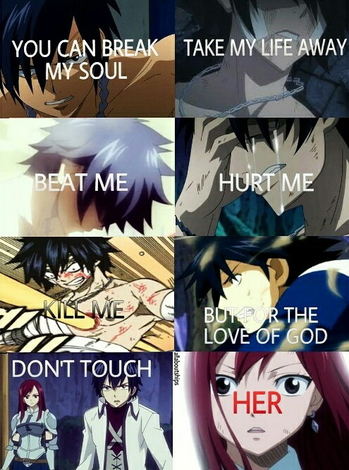 Love Never Dies Quotes Wallpaper Erza Scarlet Fairy Tail Gray Fullbuster Hunger Games