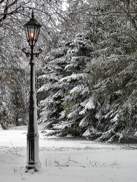 Narnia Lamppost in Winter by Nuhan