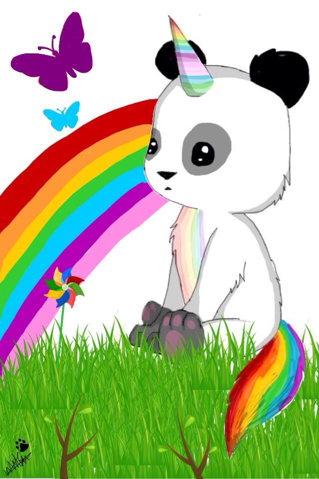 Cute Wallpapers Keep Calm Unicorn Panda Pandicorn Rainbow Butterfly Love