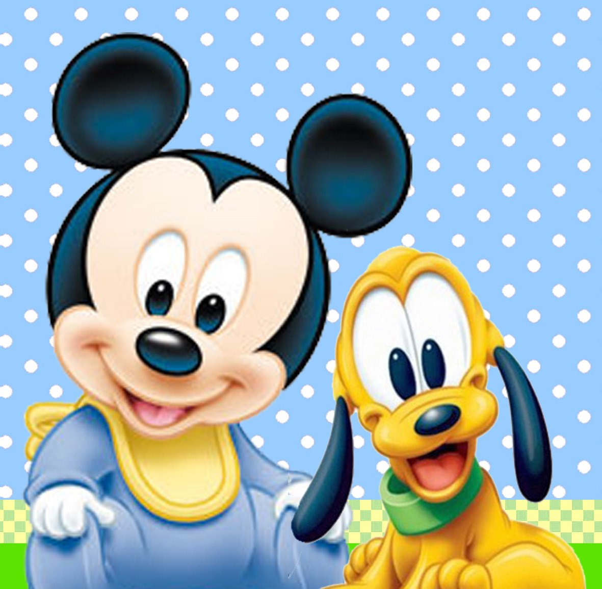Mickey Mouse And Pluto We Heart It Baby And Pluto