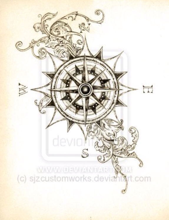 Sick compass tattoo design discovered by JT on We Heart It