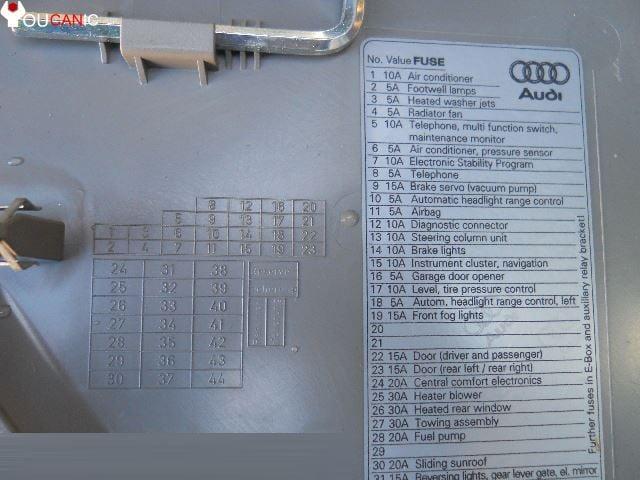 2001 Audi S4 Fuse Diagram Wiring Schematic Diagram