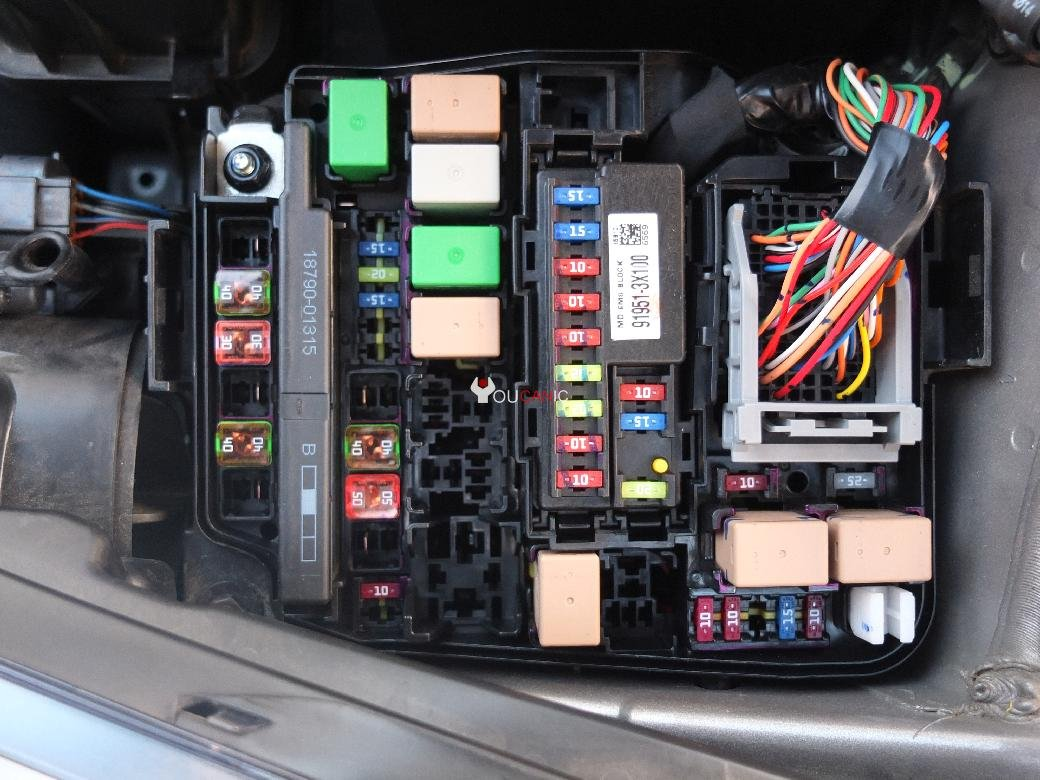 hyundai accent 1997 fuse box