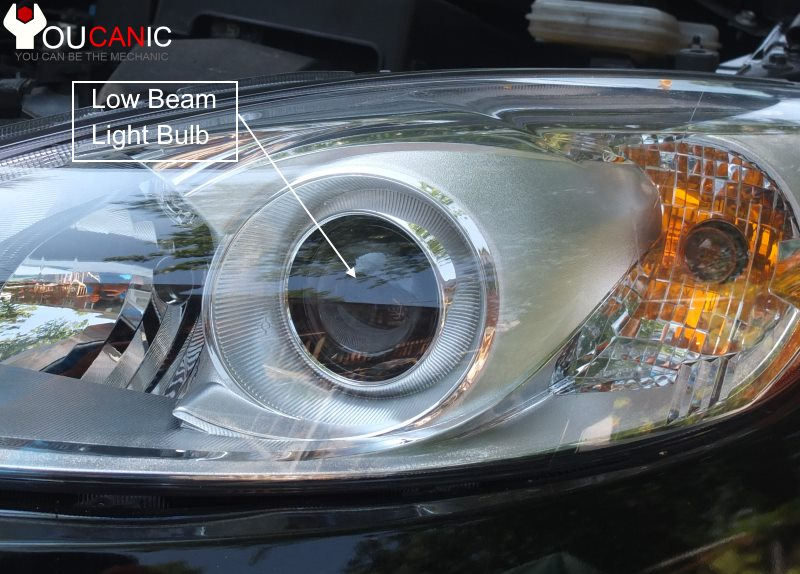 How to change low beam bulb on Mazda 5 2010-18