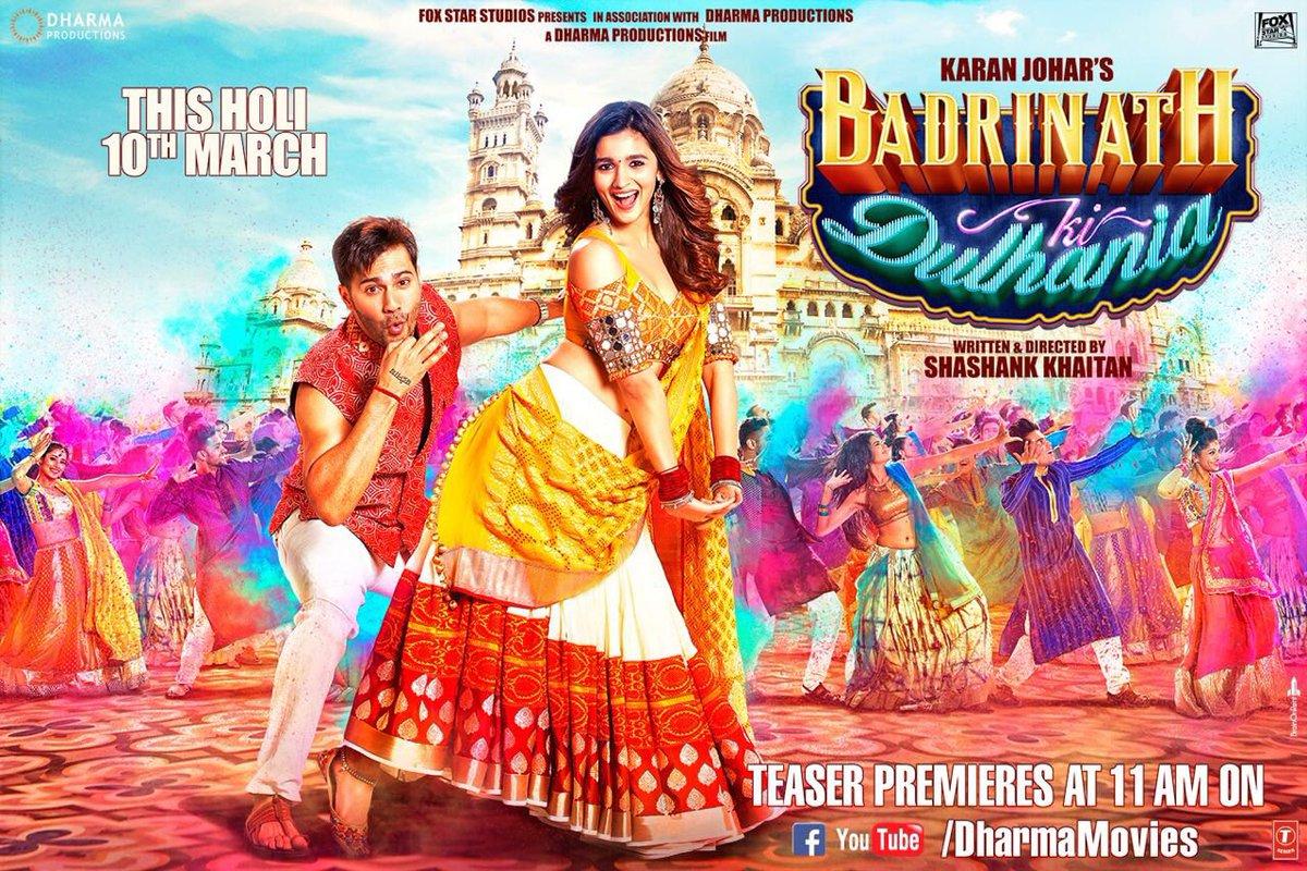 Varun And Alia Hd Wallpapers Badrinath Ki Dulhania Trailer Varun Dhawan And Alia Bhatt