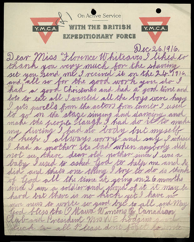 ARCHIVED - Letter from Soldier Solomon Lubotsky to the Ottawa