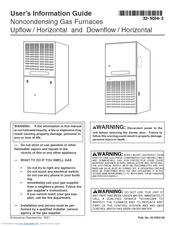 American Standard Noncondensing Gas Furnaces Manuals