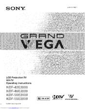 Sony GrandWega KDF-55E2000 Manuals