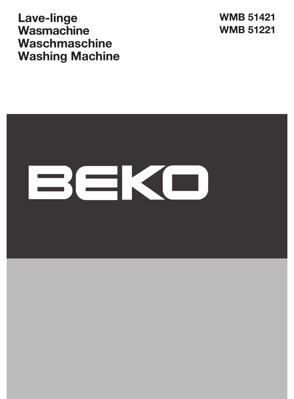 Beko Wmb 51421 Manual Pdf Download Manualslib
