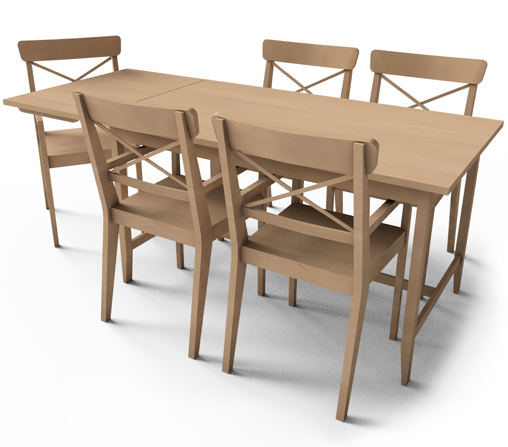 Commode Leksvik Cad I Bim Objekat Leksvik Dining Table Ikea