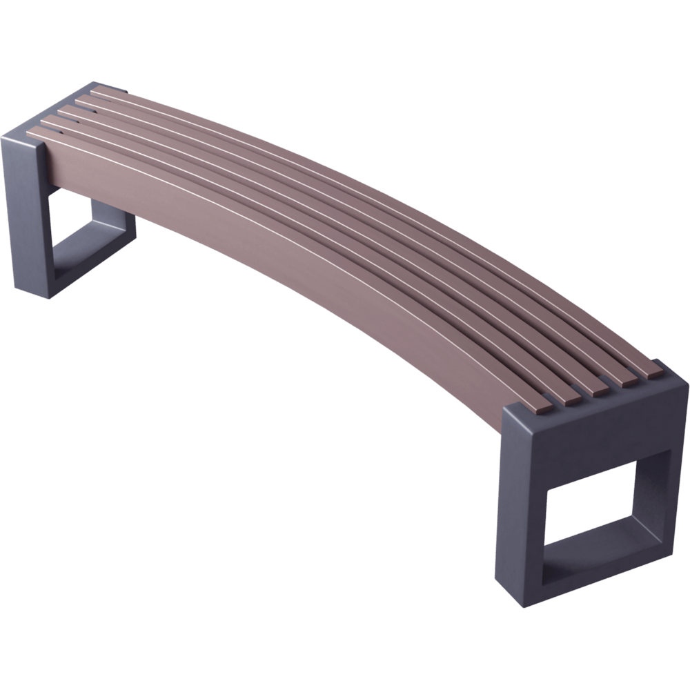 Mobilier Urbain Banc Cad And Bim Object - Plas Eco Mobilier Urbain Banc - Plaseco