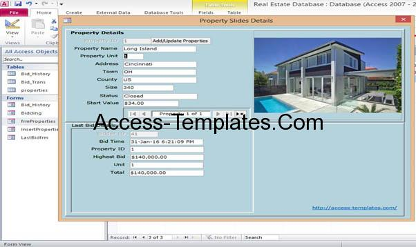 access database templates rental property Access Database and