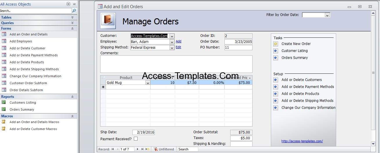 Inventory Management Database for Microsoft Access 2010 2013 and - inventory management template