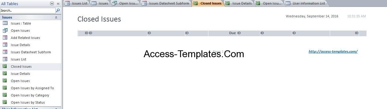 microsoft access issues database xv-gimnazija