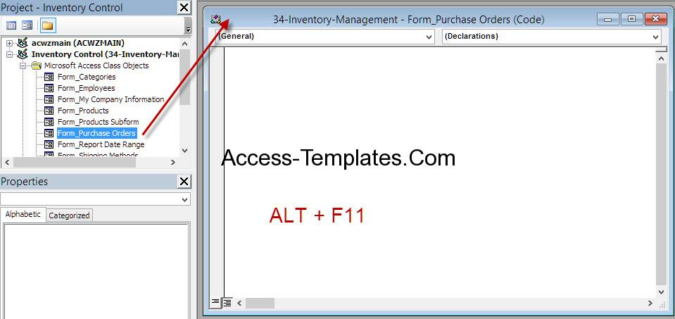 MS Access VBA Close Workbook and Form Access Database and Templates