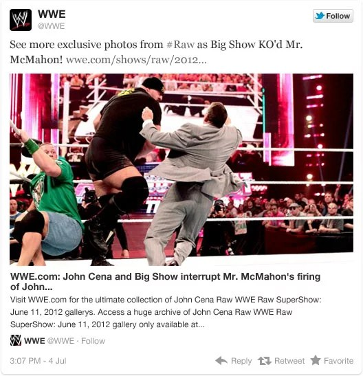 Twitter Expanded Picture Tweets on WWE Tweets