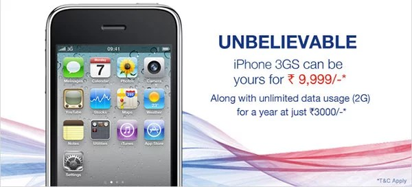Get hands on iPhone 3GS from Aircel at Rs 9,999