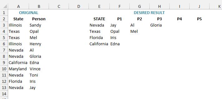 rearrange lists