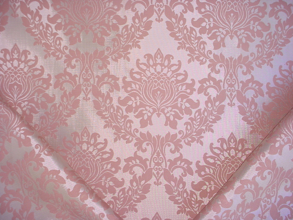 How Many Yards Of Fabric For Curtains 10 7 8y F Schumacher Blush Lotus Floral Silk Damask Drapery