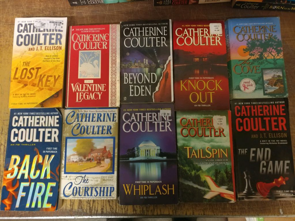 Catherine Coulter Libros Lot Of 10 Catherine Coulter Fbi Mystery Thriller Mix Popular