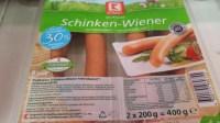 K-Classic (kaufland) Schinken-Wiener, fettreduziert, 30% ...