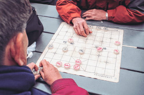 Old Men Betting On Xiangqi