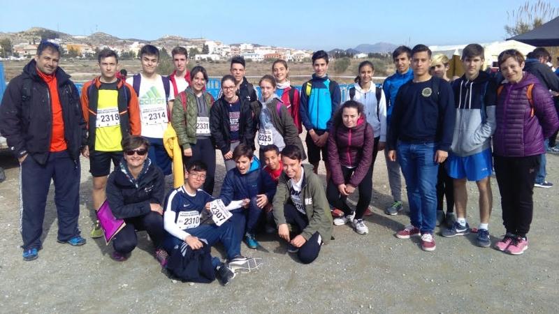 Un total de 18 escolares de Totana participan en la Final Regional de Campo Través de Deporte Escolar, celebrada en Puerto Lumbreras, par las categorías infantil, cadete y juvenil