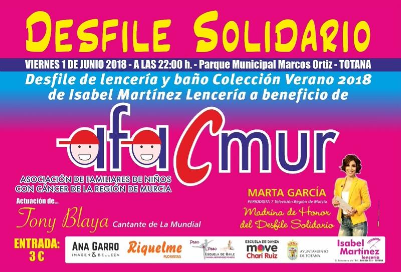 """Vídeo. El parque municipal """"Marcos Ortiz"""" acoge el próximo 1 de junio el desfile solidario de lencería y baño a beneficio de la Asociación de Familiares de Niños con Cáncer de la Región de Murcia (Afacmur)"""