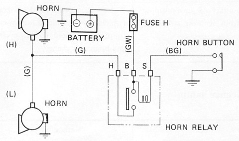 Dual Horn Wiring Diagram - Wiring Data Diagram