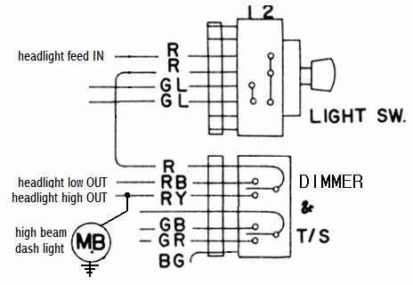 Tech Wiki - Headlight Wiring  Datsun 1200 Club