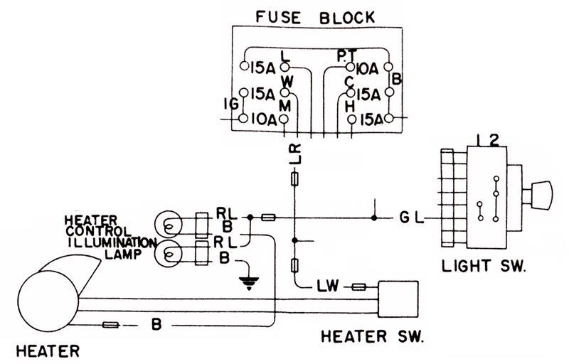 Tech Wiki - Heater Wiring  Datsun 1200 Club