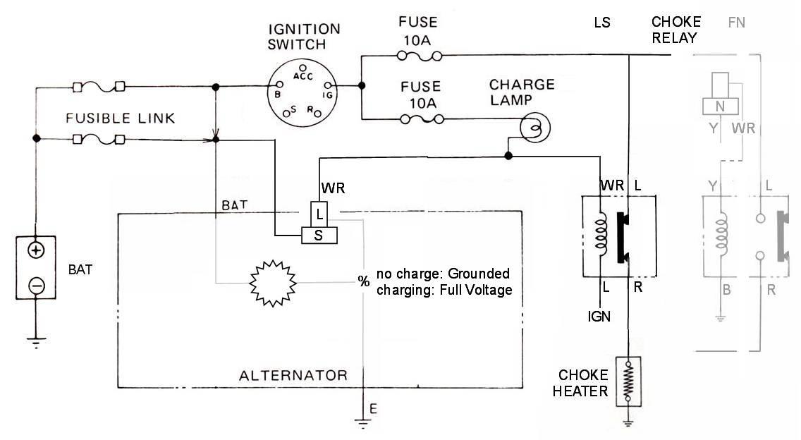Tech Wiki - IR Alternator Conversion Wiring  Datsun 1200 Club