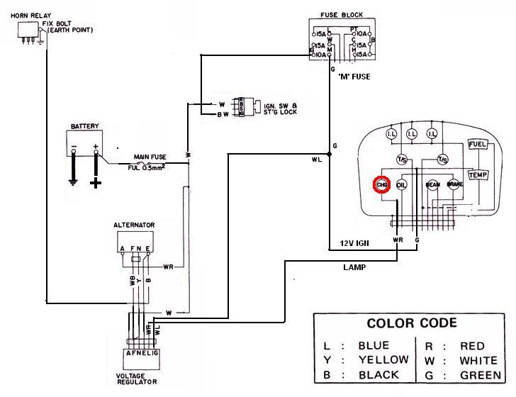 Tech Wiki - Alternator Wiring  Datsun 1200 Club