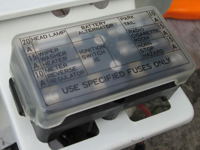 Tech Wiki - Fuse Box  Datsun 1200 Club