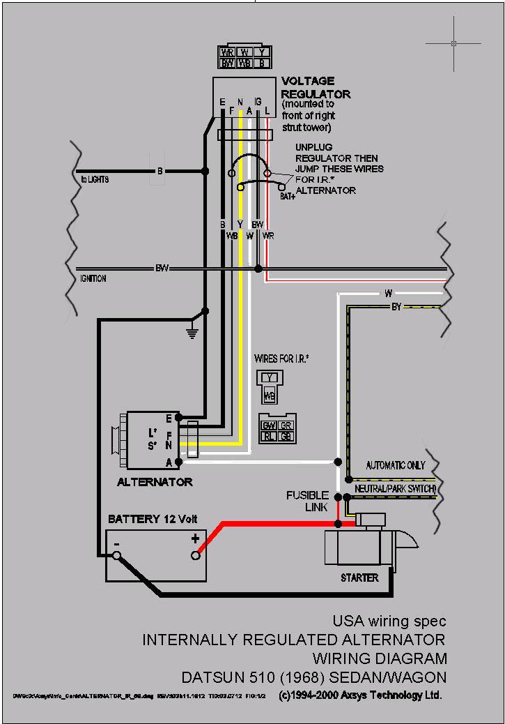 datsun 510 wiring diagram
