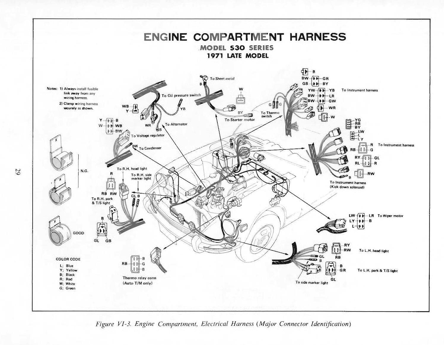 1971 240z wiring harness