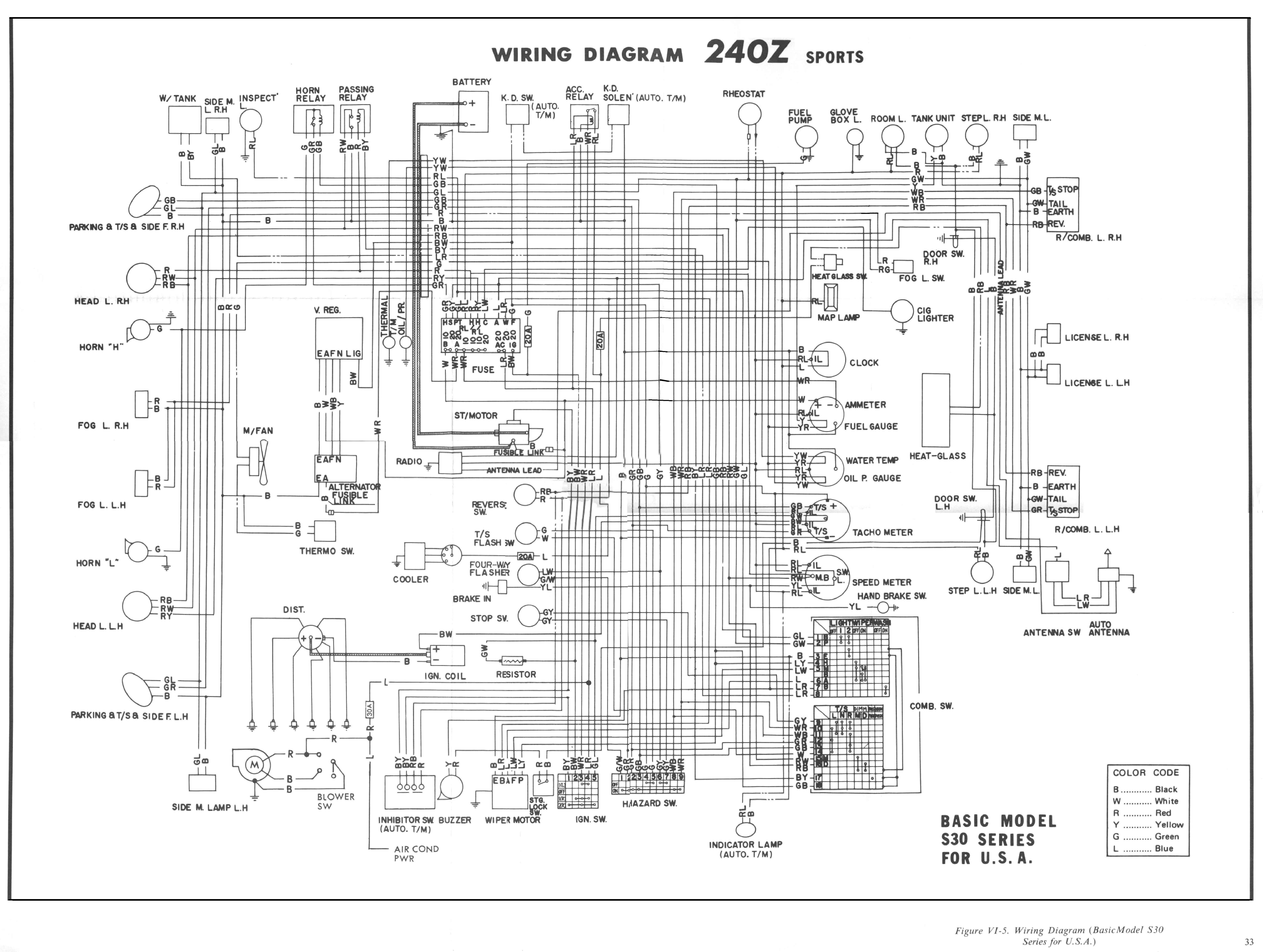 240z wiring diagram wiring diagram l3 1991 mazda miata wiring diagram 1974 datsun 260z wiring diagram #12