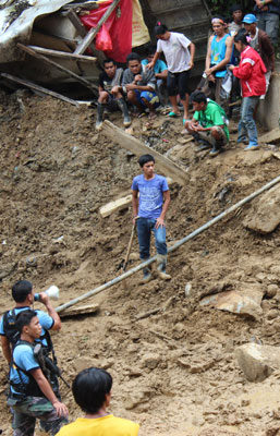 "In Pantukan's disaster area, ""leakings"" will cause bigger landslides"