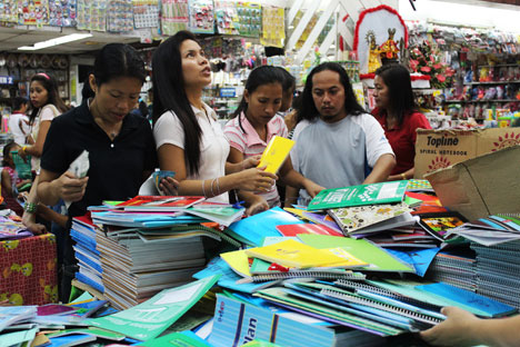 DTI releases price guide for school supplies