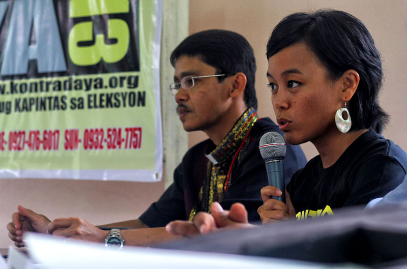 Prof. Aya Ragrario, Kontra Daya coordinator in Southern Mindanao, in a press conference in Davao City.  (davaotoday.com file photo by Ace R. Morandante)